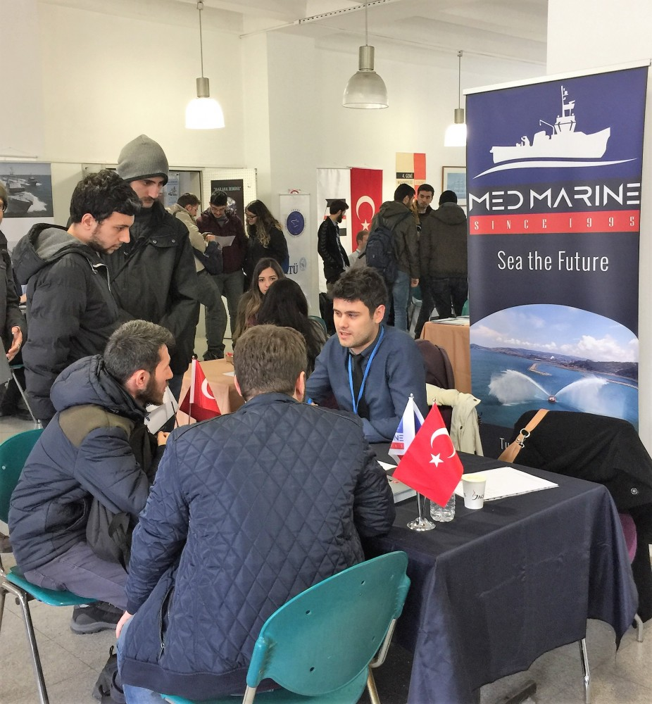 Med Marine came together with Istanbul Technical University students at ITU Marine Engineering Days!