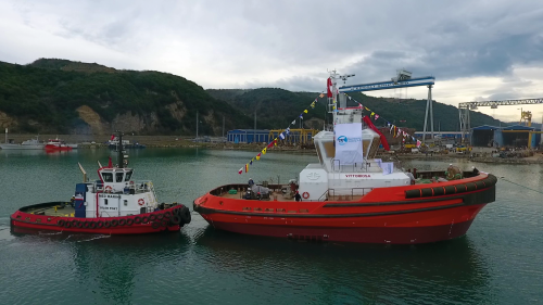 Med Marine Successfully Launched Rimorchiatori Riuniti Group's 30m Tugboat